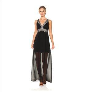 BCBGeneration Women's Lace Paneled Maxi Dress 2